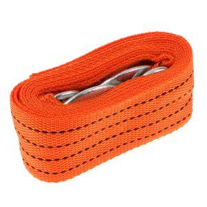 Hochleistungs-Abschleppgurt Mit Haken 10.000 Lb Kapazität 1,8 X 118 \'\' Seil Orange 3 Meter