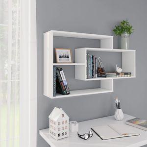Gute Möbel® Wandregale - Hängeregal Skandinavisch Bücherregal Regal Für Badezimmer,Schlafzimmer,Wohnzimmer, Weiß 104×24×60 cm Spanplatte Größe:104 x 24 x 60 cm🌻7612