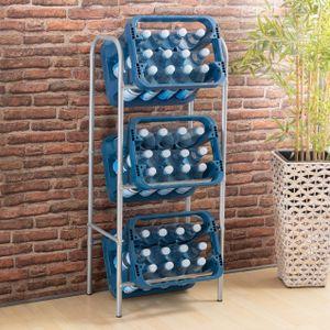 Kastenständer Kistenregal für 3 Kästen Getränkekistenregal Kastenregal Kistenständer Regal