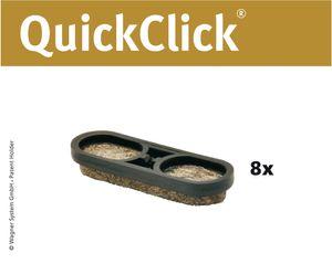 WAGNER QuickClick® Stuhlgleiter TANDEM ULTRASOFT - 8er-Set Ersatzgleiter Ø 39 x 12 mm, DE Ware - 15899000