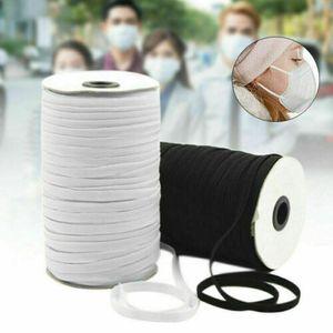 Stärke 3mm120yd Gummibänder Gummiband Weiß zum nähen Gummilitze Gummischnur elastische Gummikordel Elastic Band für Makse Armbänder Schmuck DIY Handwerk