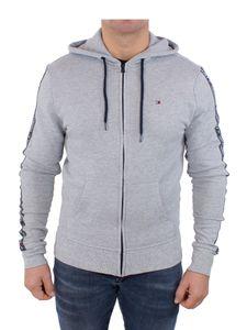 Tommy Hilfiger Herren Zip Logo Tapping Hoodie, Grau M