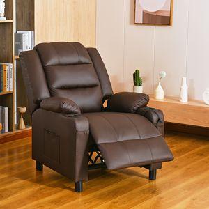 Crenex Massagesessel Fernsehsessel Relaxsessel TV Sessel Ruhesessel Sessel Braun