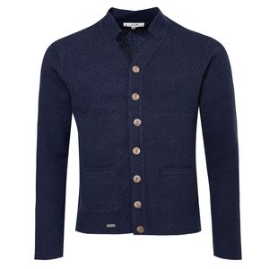 Strickjacke Toni in Blau von Gweih und Silk, Größe:XL, Farbe:Blau