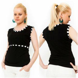 3in1 Umstandsshirt Stillshirt Stilltop Ohne Ärmel in Schwarz Größe L/XL (40/42)