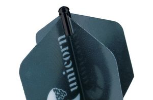 Unicorn flugprotektor Aluminium schwarz 3 Stück