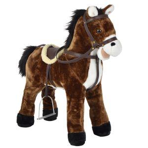 """Pink Papaya Stehpferd """"Timmy"""" 65 cm Pony bis 100 kg belastbar mit Sound und Steigbügeln"""
