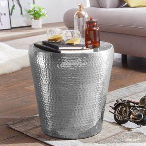 Beistelltisch VIKRAM 41x41x41cm Aluminium Silber Dekotisch