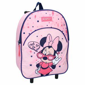 trolley-Rucksack Minnie Mouse Mädchen 33 x 25 cm rosa