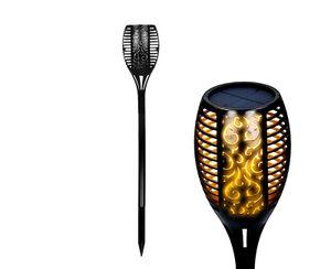 LED Solar Gartenfackel, realistisches Flammenflackern, 96 LED spritzwassergeschützt