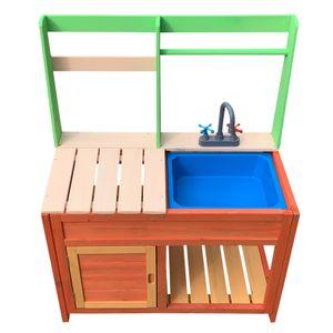 Kinderküche Outdoor Matschküche Spielküche Garten Holz Gartenküche Kind