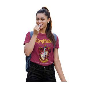 Harry Potter - Gryffindor T-Shirt für Damen PG686 (L) (Burgunder)
