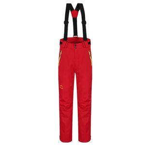 Frauen warme Skihosen Lätzchen winddicht wasserdicht Schnee Hose XL rot wie beschrieben + wie beschrieben