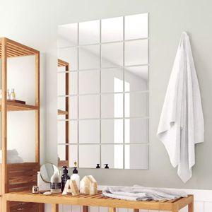 anlund 24-tlg. Spiegelfliesen-Set Quadratisch Glas