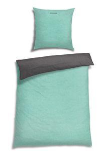 Schiesser Feinbiber Wendebettwäsche Doubleface, 100% Baumwolle, Farbe: mint, Größe: 135 cm x 200 cm