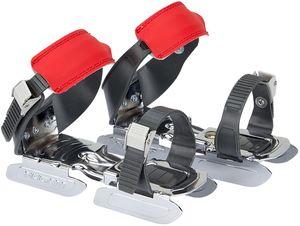 Nijdam Kinder Verstellbare Gleitschuhe Uni Anthrazit/Grau/Rot Schuhe, Größe:OneSize