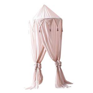 Baby Bett Baldachin Netting Bettdecke Moskito Vorhang Bettwäsche Kuppel lesen Zelt rosa Farbe Rosa