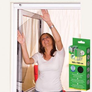easy life Fliegengitter für Fenster Basic 150 x 180 cm in Anthrazit Fliegennetz aus Polyester mit selbstklebendem Klettband Insektenschutz ohne Bohren