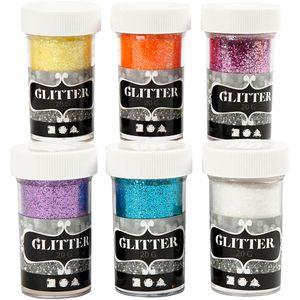 glitterfasern verschiedene Farben 6 Stück