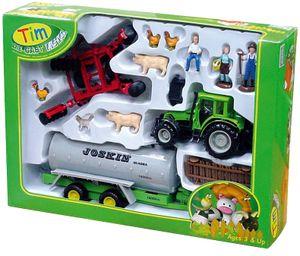 TIM 32005 Bauernhofset 1:32 Deutz Traktor mit Güllewagen Metall