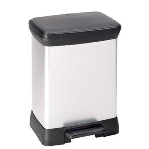 Pedalbehälter - 30 l - metallisch grau
