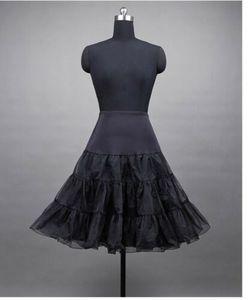 50er 60er Jahr Petticoat Tüllrock Dirndl Rock Unterrock Tütü Damenrock Kurz 65cm Schwarz L/XL