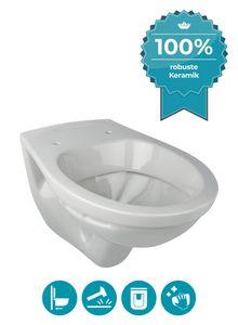 Calmwaters® Hänge-WC in Manhattan-Grau als Tiefspüler mit waagerechtem Abgang, Tiefspül-WC, Wand WC, Wandtoilette, Hängetoilette, Tiefspül-WC - 08AB2308