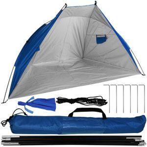 Strandmuschel UV-Schutzfaktor 50+ inkl. Tragetasche dunkelblau Sonnenzelt Strandzelt Sonnenschutzzelt Sichtschutz