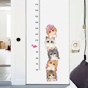 43x119cm Kinder Messlatte Wandmesslatte in Katze-Design