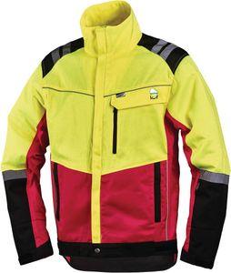 Forstschutzjacke Komfort Gr.XL neongelb/rot 60%PES/40%CO