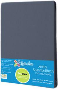 Jersey Topper Spannbettlaken Spannbetttuch Baumwolle Bettlaken, 140x200 - 160x200 cm, Anthrazit