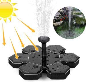 Solar Springbrunnen, Outdoor Solar Teichpumpe mit 1.5W Solar Panel Solarpumpe Wasserpumpe Fontäne Schwimmender Brunnen für Gartenteich Springbrunnen Fisch Behälter Kleiner Teich