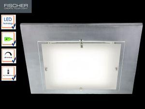Fischer LED Deckenleuchte 22,5W/230V Dimmbar Fernbedienung 3000K 2547lm 40x40cm
