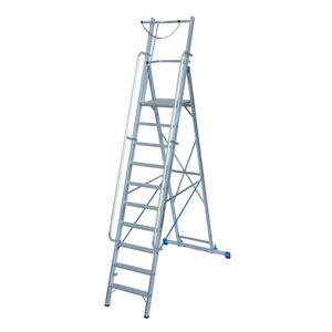 Krause STABILO Stufen-StehLeiter mit großer Plattform und Sicherheitsbügel 10 Stufen