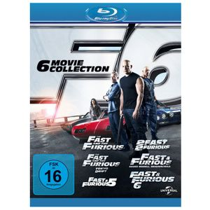 Fast and The Furious 6 Movie Collection Bluray (FSK ab 16)