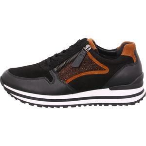 Gabor Comfort Sneaker  Größe 5, Farbe: schwarz/bronce/camel