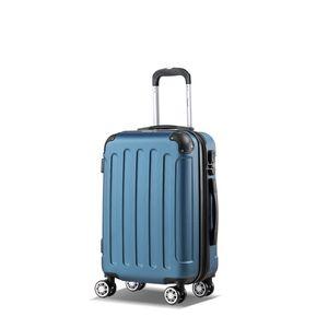 Koffer Flexot 2045 Handgepäck Koffer ( Bordcase ) - Farbe Blau Größe M - Reisekoffer - Trolley Hartschale
