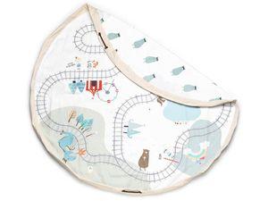 Play&Go Spielzeugsack/Spielmatte 140cm, Trainmap