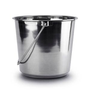 EDELSTAHLEIMER Eimer Kücheneimer Mülleimer Futtereimer Milcheimer mit Henkel 12L