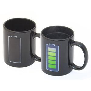 Animierte Kaffeetasse mit Akku-Batterie Kaffeebecher Tee-Tasse Thermoeffekt mit Thermo Wärmeeffekt Farbwechsel