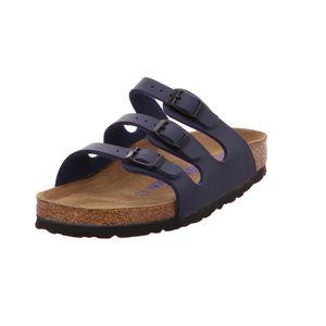 BIRKENSTOCK Florida Damen klassische Sandalen Blau Schuhe, Größe:38