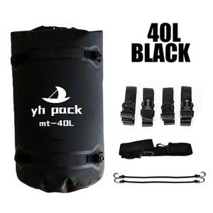 Motorradtasche Gepäckrolle Hecktasche 100% Wasserdicht Motorrad Satteltasche mit Schultergurt ca. 40L Schwarz