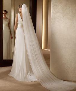 Hochzeitsschleier zwei Schichten Brautschleier für Braut mit Schleier Kamm Kirche -(Weiß,200cm)