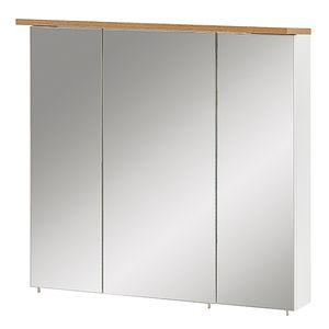 Schildmeyer Spiegelschränke Badschrank Oberschrank 70,5x72,3x16cm weiß eiche