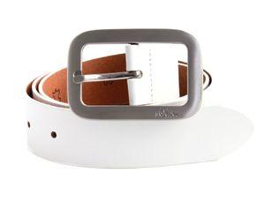 s.Oliver Leather Belt W85 Off-White