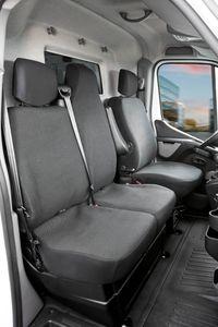 Walser Sitzbezüge für Opel Movano, Renault Master und Nissan Interstar, Einzelsitz und Doppelbank vorne ab BJ 04/2010 - 2014, 10500