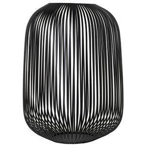 Blomus Laterne LITO schwarz Stahl pulverbeschichtet Durchmesser 33 cm