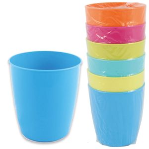 Becher Trinkbecher Kunststoff 250 ml für Camping oder Party 6 farbig sortiert 6 Stück