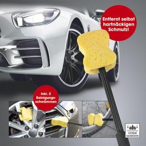 Felgenbürste Felgenreiniger Auto CLEANmaxx Waschbürste Rundbürste 2 x Schwämme