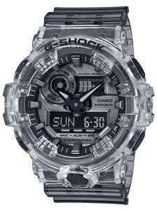Casio G-Shock Uhr GA-700SK-1AER Armbanduhr transparent grau